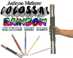 Colossal Rainbow Multiplying Magic Wands - Multiplying Appearing Magic Wand Trick
