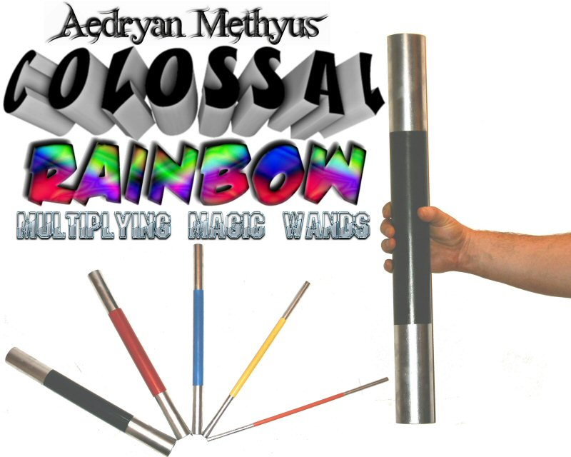 Colossal Rainbow Multiplying Nesting Magic Wands Trick